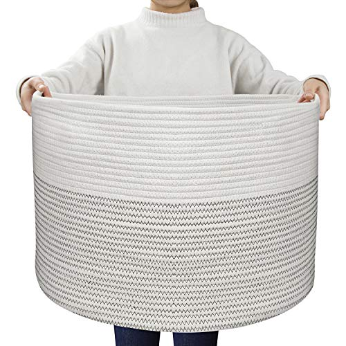 (UBBCARE Extra Large Cotton Rope Basket 21.7