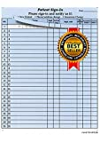 Patient Sign-in Sheets, 8-1/2'' X 11'' (Blue) Carbonless Form (Lot of 250 Sheets) Hipaa Compliant