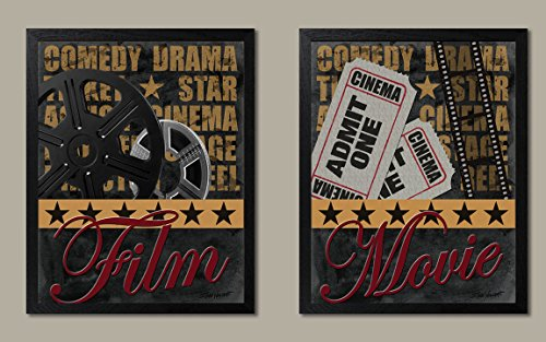 Movie Night! Retro, Vintage Movie Reel and Admit One Set; Tw