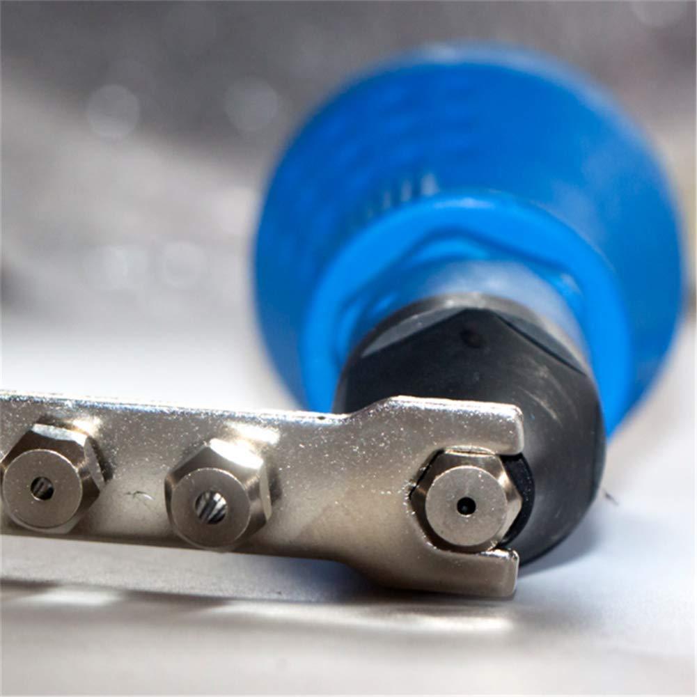 Nietmutter-Pistolenadapter mit elektrischem Einsatz Kabelloser Nietbohrmaschinensatz f/ür Blindnietmaschinen Abnehmbarer Nietpistolen-Bohradapter Blau