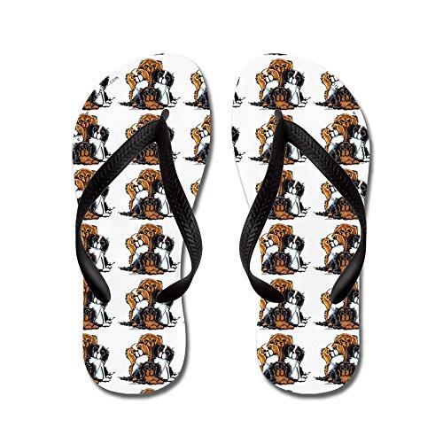 CafePress Lotsa CKC Spaniels White - Flip Flops, Funny Thong Sandals, Beach Sandals Black