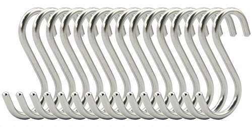 RuiLing 15-Pack S Shaped Hooks Heavy-Duty