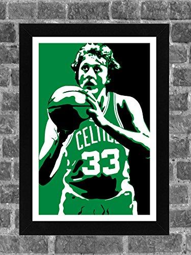 - Boston Celtics Larry Bird Portrait Sports Print Art 11x17