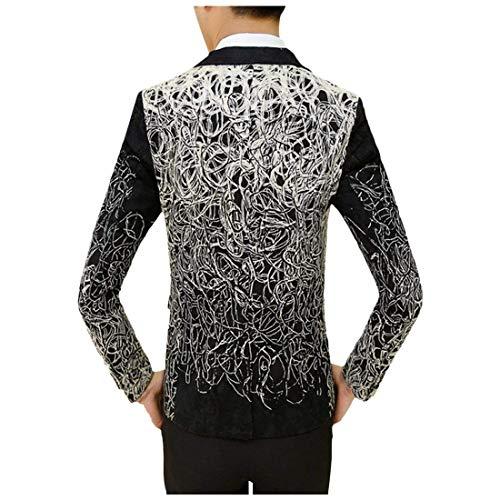 Élégant Retro Suit Blazer Manteau Slim Mode Pour 5 Floral À Hommes Imprimé Veste Fit Schwarz Prom Loisir q0tBYx