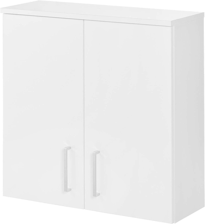 Fackelmann Atlanta - Armario de pared con bisagras amortiguadas, 23,8 x 68 x 32,5 cm (ancho x alto x profundidad), color blanco y blanco: Amazon.es: Hogar