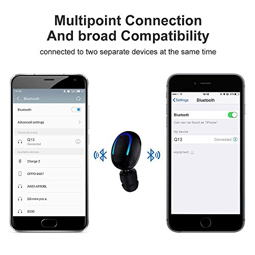 1bb2092ee6b Bluetooth Headphone, Kissral Wireless Sport Earbud 8 Hours Talking Time HD  Microphone Bluetooth Headset One
