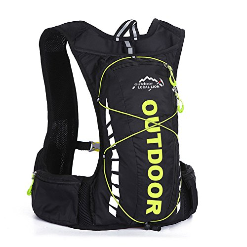 10L Outdoor Backpack Breathable Waterproof Hydration Bag for Running Riding Climbing Hiking (Arcteryx Pack Cover)