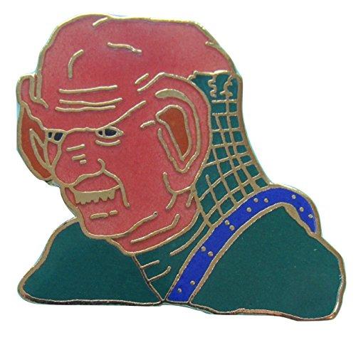 Enamel pin Ferengi bust Star Trek Next Generation out-of-production vintage