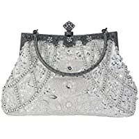Bagood Women's Vintage Style Beaded And Sequined Evening Bag Wedding Party Handbag Clutch Purse