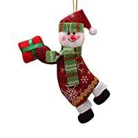 Koolee Christmas Tree Plush Hanging Ornaments, Santa and Snowman Reindeer Toy Doll Decorations