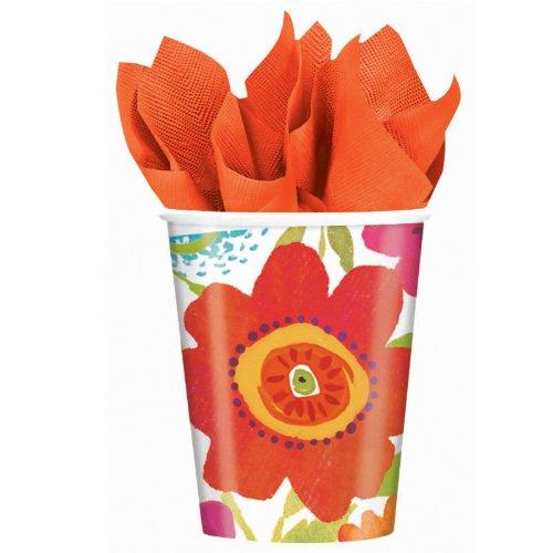 Paper Cups 9 Ounce 8/Pkg-Floral Splash