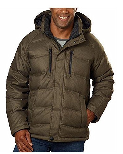 Hawke & Co. Men's Heavy Down Jacket, Olive (Size Small)      ()