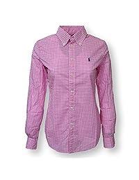 Polo Ralph Lauren Womens Custom Fit Long-Sleeve Woven Shirt
