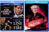 Clint Eastwood Blood Work Blu Ray & In the Line of Fire + Harrison Ford Air Force One Blu Ray Bundle Crime Action Pack 3 Movie Set Feature Films