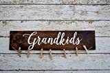 Grandkids Sign Picture Holder, Grandkids Make Life Grand, Rustic Picture Frame, Home Decor, Hand painted sign