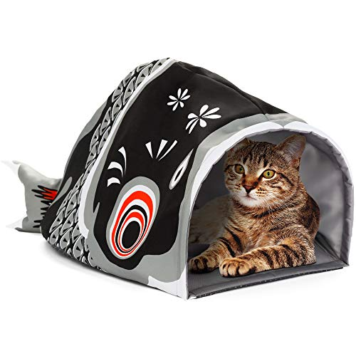 Cat Cave Bed with Crinkle Bottom
