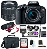 Canon T7i Video Creator Kit w/ 18-55mm Lens, Rode Microphone, 32GB Card + Canon SLR Bag, Flash & Supreme Kit For Sale