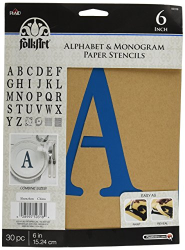 Where to find alphabet stencils 6 inch letters?