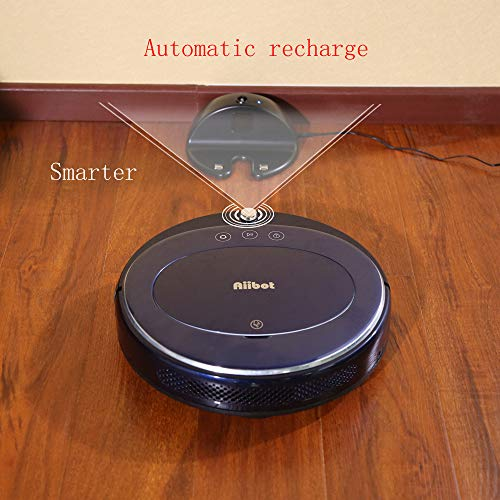 Glumes Smart Robotic Vacuum, Pet Hair Care, Powerful Suction Tangle-free, Super Quiet, Slim Design, Auto Charge, Daily Planning, Good For Hard Floor and Low Pile Carpet Ideal Gift BF Sales (Ship from US!) (Blue) by Glumes (Image #9)