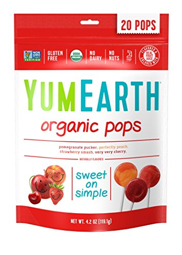 YumEarth Organic Lollipops, Assorted Flavors, 4.2 Oz Pouches, 6 Count by YumEarth