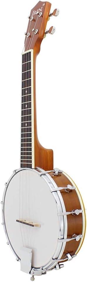QLJ08 23 pulgadas Sapele Nylon 4 Cuerdas Concierto Banjo Uke ...