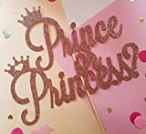 Cotton Candy Co PRINCE OR PRINCESS Rose Gold Glitter Cake Topper Baby Shower New Party Boy Oh Baby Ready To Pop Girl Welcome Home