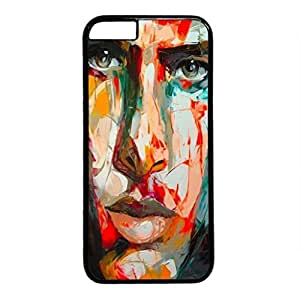 iPhone 5C Case, iCustomonline Fran?oise Nielly Designs Soft TPU Case Cover for iPhone 5C Black