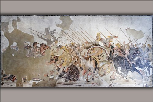 24''x36'' Poster - Alexander The Great Mosaic (Full Aspect)