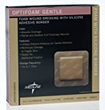 Medline MSC2066EPZ Optifoam Gentle Border Adhesive Dressings, 6'' x 6'' (Pack of 10)