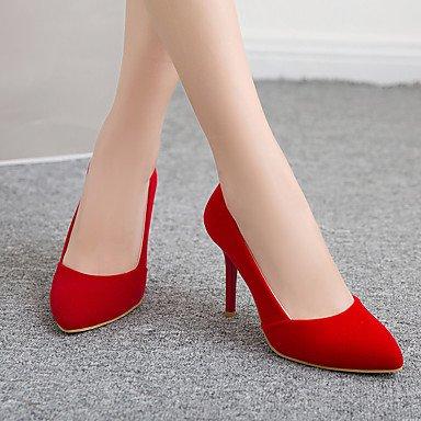 Talones de las mujeres Primavera Verano Otoño Otros Fleece oficina y carrera Fiesta y vestido de noche del tacón de aguja Otros Negro Azul Rojo Otras Red