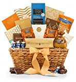 GiftTree Encore Gourmet Chocolate & Premium Snack Food Gift Basket – Premium Gift Basket for Men or Women – Assortments of Gourmet Popcorn, Almond Roca, Biscotti, and Cookies
