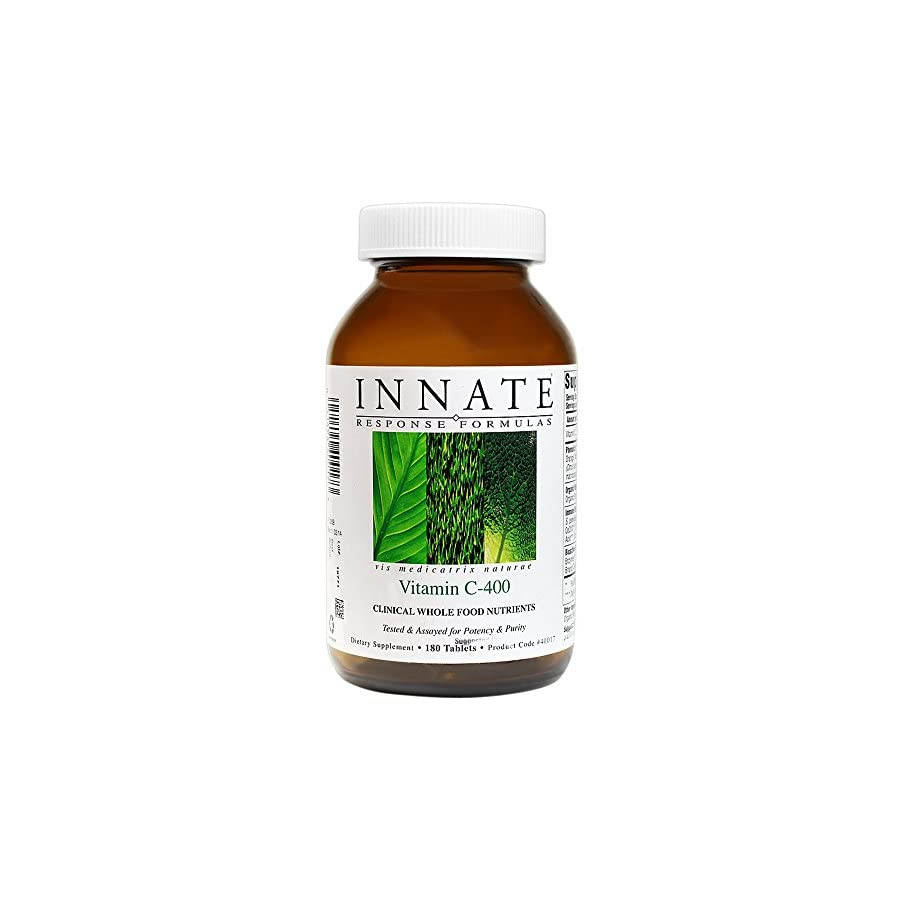 INNATE Response Formulas Vitamin C 400, Gentle and Effective Immune Support, 180 Tablets