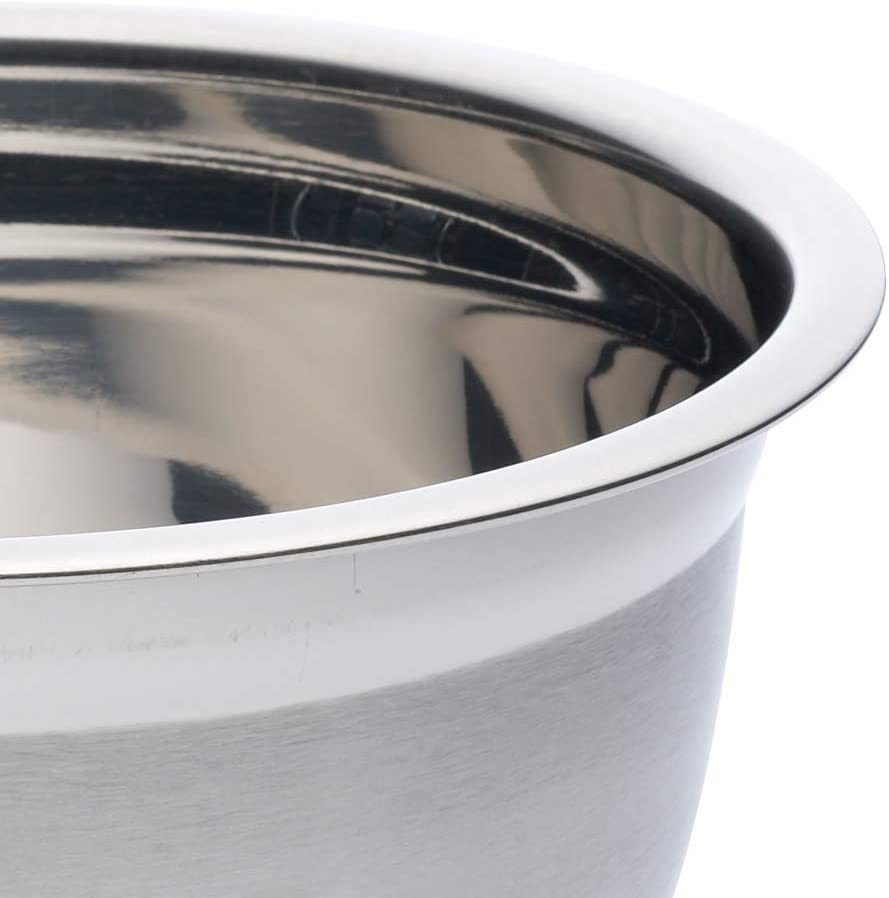 2 Litres Kitchen Craft Deluxe Stainless Steel Round Mixing Bowl