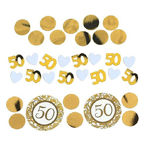 Gold 50th Year Anniversary Confetti Pack