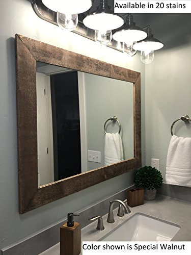Renewed Décor Shiplap Reclaimed Wood Mirror in 20 stain colors - Large Wall Mirror - Rustic Modern Home - Home Decor - Mirror - Housewares - Woodwork - Frame - Stained Mirror (Shiplap Hanging)