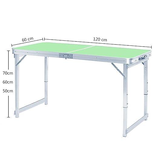 mesa plegable de Aluminio para Exteriores Plegable portátil luz ...