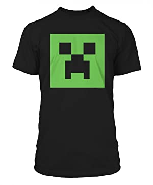 Minecraft Creeper Glow in the Dark Face Premium Tee Black
