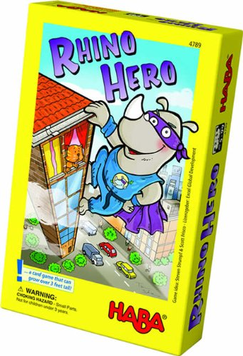 Wooly Rhino - HABA Rhino Hero A Heroic Stacking Card Game for Ages 5 and Up - Triple Award Winner