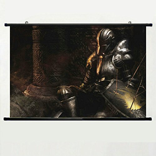 Wall Scroll Poster with Dark Souls Armor Shiled Arrows Sword