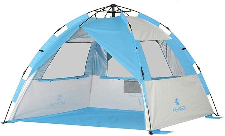Tiendas de campaña Acampar con Bolsa de Transporte Fácil de configurar Carpa Familiar for Caminatas (Color : Blue, Size : One Size): Amazon.es: Hogar