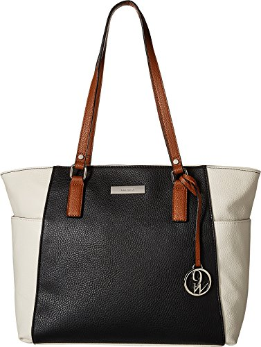 Nine West Women's Pieces of Me Tote Black/Chalk/Tobacco One Size