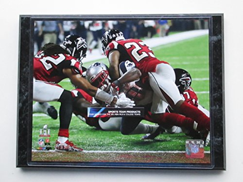 James White New England Patriots Scores The Winning Touchdown In Overtime In Super Bowl 51 Action Photo Mounted On A  9 X 12  Black Marble Wood Plaque