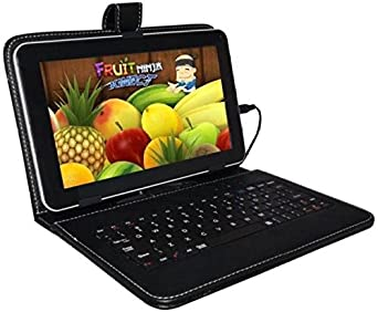 Ikall N4 Tablet with Keyboard (7 inch, 8GB, WiFi + 4G LTE + Voice Calling), Black Tablets at amazon