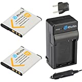 EforTek NP-BN1 Replacement Battery (2-Pack) and Charger Kit for Sony NP-BN1 and Sony Cyber-shot DSC-QX10, DSC-QX100, DSC-T99, DSC-T110, DSC-TF1, DSC-TX5, DSC-TX7, DSC-TX9, DSC-TX10, DSC-TX20, DSC-TX30, DSC-TX55, DSC-TX66, DSC-TX100V, DSC-TX200V, DSC-W310, DSC-W320, DSC-W330, DSC-W350, DSC-W360, DSC-W380, DSC-W390, DSC-W510, DSC-W515PS, DSC-W520, DSC-W530, DSC-W550, DSC-W560, DSC-W570, DSC-W580, DSC-W610, DSC-W620, DSC-W650, DSC-W690, DSC-W710, DSC-W730, DSC-W810, DSC-W830, DSC-WX5, DSC-WX7, DSC-WX9, DSC-WX30, DSC-WX50, DSC-WX70, DSC-WX80, DSC-WX150,DSC-WX220,DSC-QX30