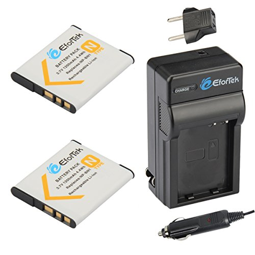 EforTek NP-BN1 Replacement Battery (2-Pack) and Charger Kit for Sony NP-BN1 and Sony Cyber-shot DSC-QX10, DSC-QX100, DSC-T99, DSC-T110, DSC-TF1, DSC-TX5, DSC-TX7, DSC-TX9, DSC-TX10, DSC-TX20, DSC-TX30