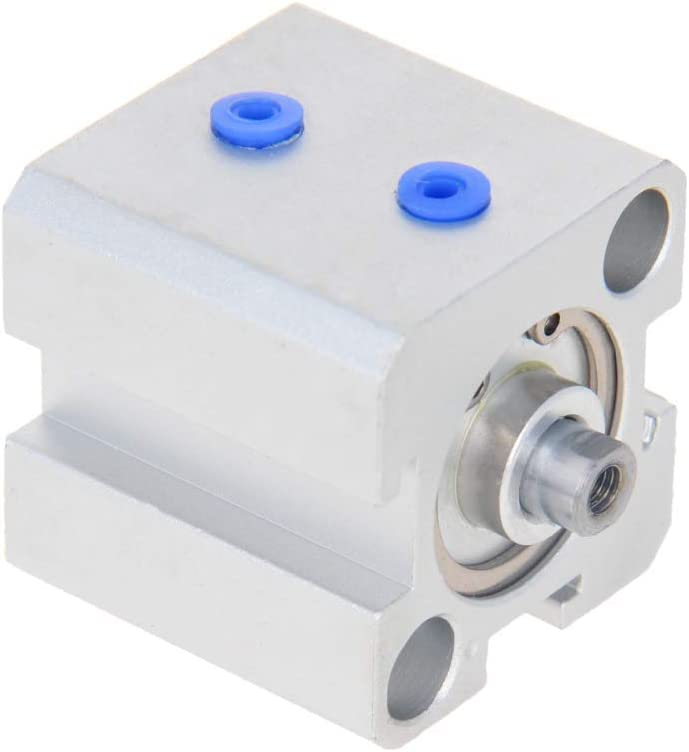 Schlanker Luftzylinder SDA16 x 10 M5 Anschluss 16 mm Bohrung 10 mm Hub doppeltwirkend