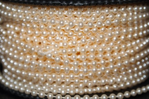 10m of 2.5mm Bead Pearl String (Ivory) (Pearl Beads Bulk)