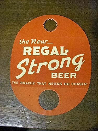 New Orleans Regal Beer doorknob placard, 1950s