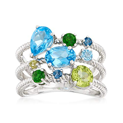Ross-Simons 2.10 ct. t.w. Multi-Gemstone Ring in Sterling Silver ()