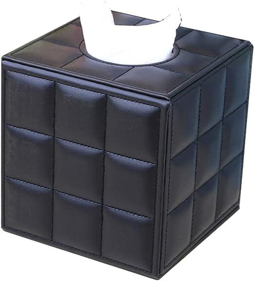 Fhjujh Cubo Diseño Caja Cuadrada de Cuero Caja de pañuelos Titular ...